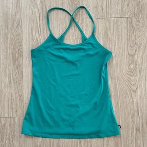 Fabletics Racerback Tank Top Sz XS Teal Stretch